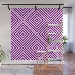 Purple Elegant Diamond Chevron Wall Mural