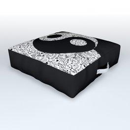 Floral Yin-Yang Outdoor Floor Cushion