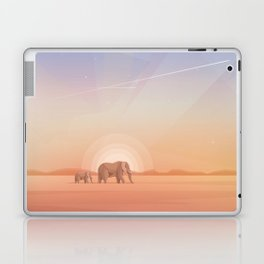 Elephants journey through desert landscapes of Africa Laptop & iPad Skin