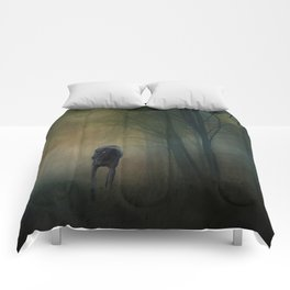 The Hound In The Woods Comforters