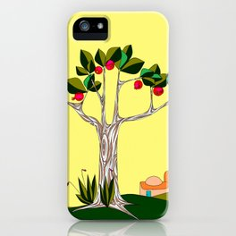 A Pomegranate Tree in Israel in the Day iPhone Case