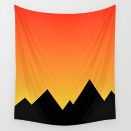 Mountains at Sunset (Red & Yellow) Wall Tapestry