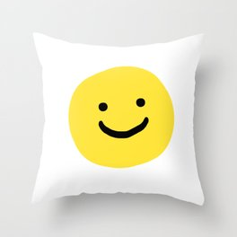 Smiley Face (H.S Nail art) Throw Pillow