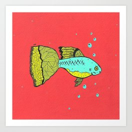 it's a goopie fish Art Print