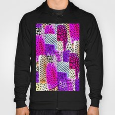 Modern pink watercolor abstract geometric hand painted pattern Hoody