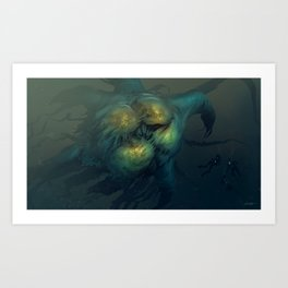 TheJuggernaut Jellyfish Art Print
