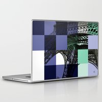 eiffel Laptop & iPad Skins featuring EIFFEL by Marcela Solana