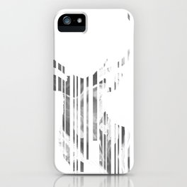 Geometric black Stag iPhone Case