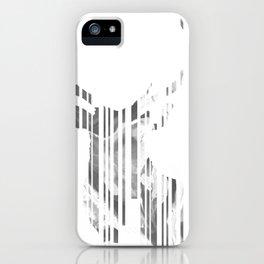Geometric black Stag iPhone Case