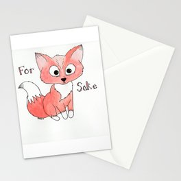 Cute Fox Watercolor Stationery Cards