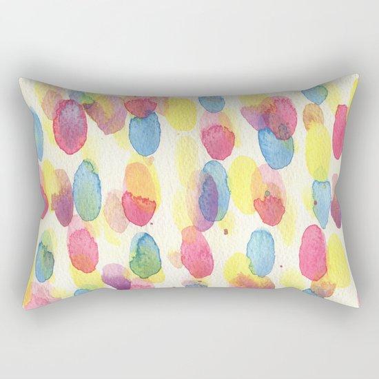 CUTE GEOMETRIC WATERCOLOUR PATTERN Rectangular Pillow