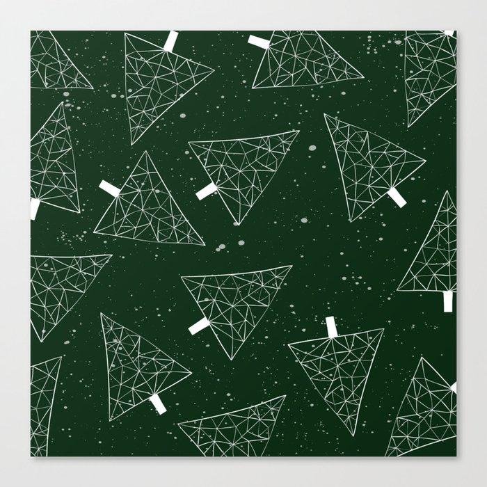Christmas Trees Green Canvas Print