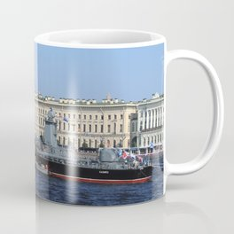 "The military battleship ""Kazanec"" 311. Neva River. Day of the Russian Navy. Coffee Mug"