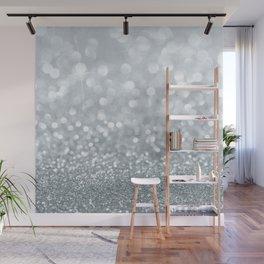 White & Silver Glitter Sparkle Wall Mural
