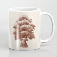 thrones Mugs featuring Old Growth  by Terry Fan