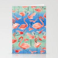 flamingos Stationery Cards featuring Flamingos  by Ninola