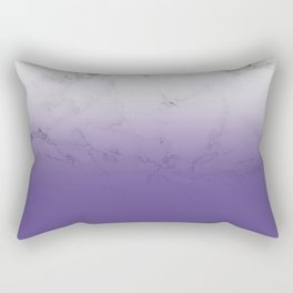Modern white marble ultra violet purple ombre gradient Rectangular Pillow