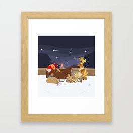 Kidnapping Santa Framed Art Print