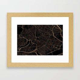 Cambridge map, Massachusetts Framed Art Print