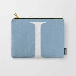 Letter I sign on placid blue background Carry-All Pouch
