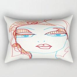 girl sketch Rectangular Pillow