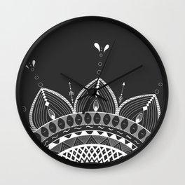 Bonjour! mandala Wall Clock