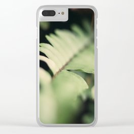 Blurred Close Up Of Fern Leaf Clear iPhone Case