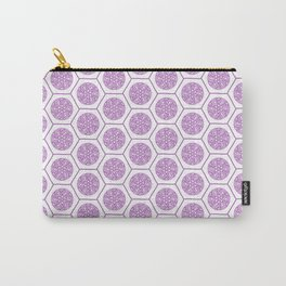 Hex Pattern 72 - pink Carry-All Pouch