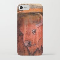 bison iPhone & iPod Cases featuring Bison by Pat Butler