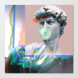 Vaporwave Glitch Canvas Print