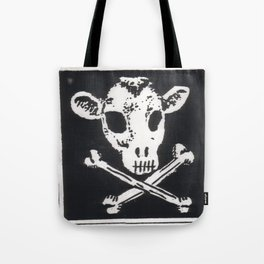 Cow Punk Tote Bag