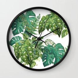 A Pattern of Plants Wall Clock