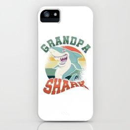 Aquatic Creature Fish Marine Life Gift Grandpa Shark Doo Doo Grandfather iPhone Case