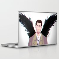 castiel Laptop & iPad Skins featuring Castiel by Ferkashi