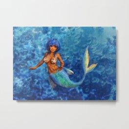 Ocean Mermaid Metal Print