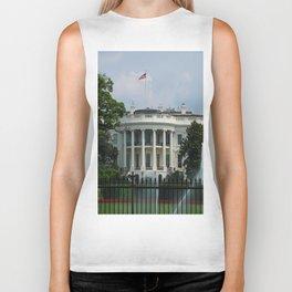 South Portico of the White House Washington DC Biker Tank