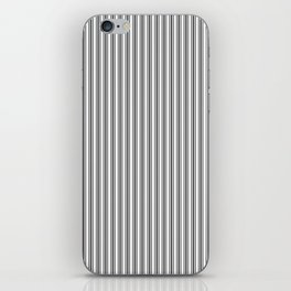 Classic Small Black Tarp Black French Mattress Ticking Double Stripes iPhone Skin