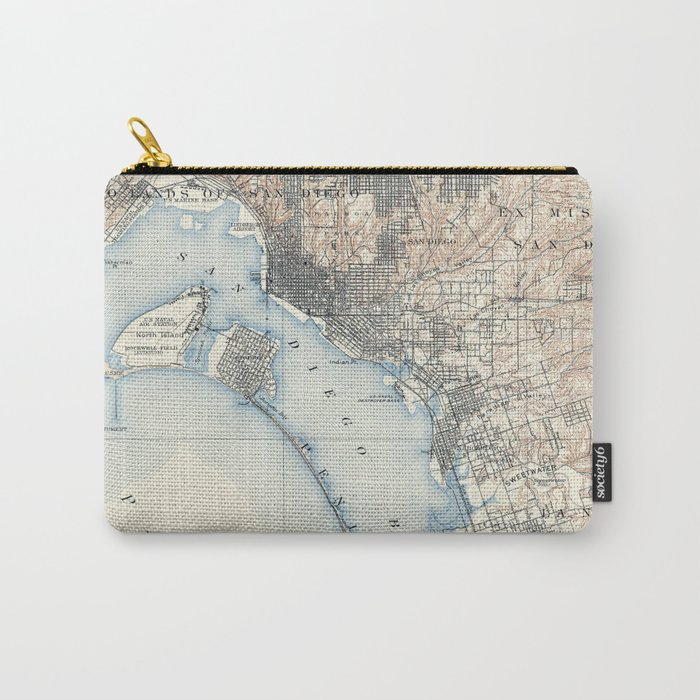 Vintage Map of San Diego California (1902) Carry-All Pouch
