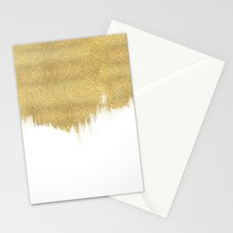 White & Gold Stationery Cards