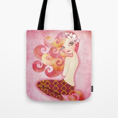 Coraleen, Mermaid in Pink Tote Bag