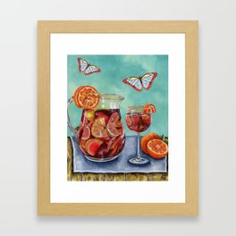 Sangria Summer Framed Art Print
