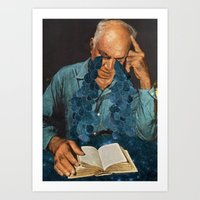 poetry Art Prints featuring Poetry by David Delruelle