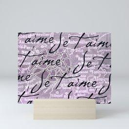 Je t'aime, Paris! Mini Art Print