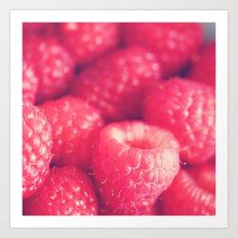 Raspberry photo. les framboises Art Print