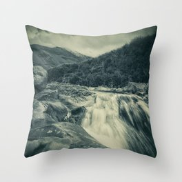 The River in the Mountains Throw Pillow