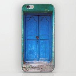 Blue Indian Door iPhone Skin
