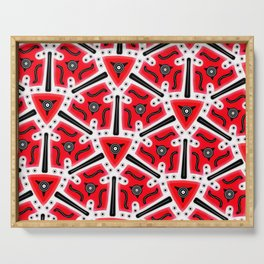 Fidget from the Black & White & Red All Over Collection Serving Tray