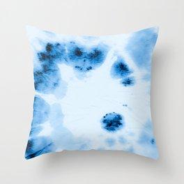 Indigo Tie Dye. Throw Pillow