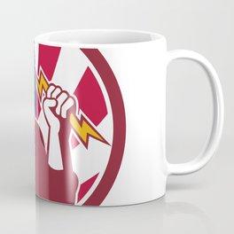 American Lineman USA Flag Icon Coffee Mug