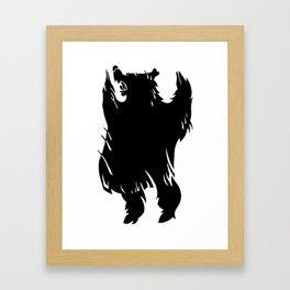 Ursa Noir Framed Art Print